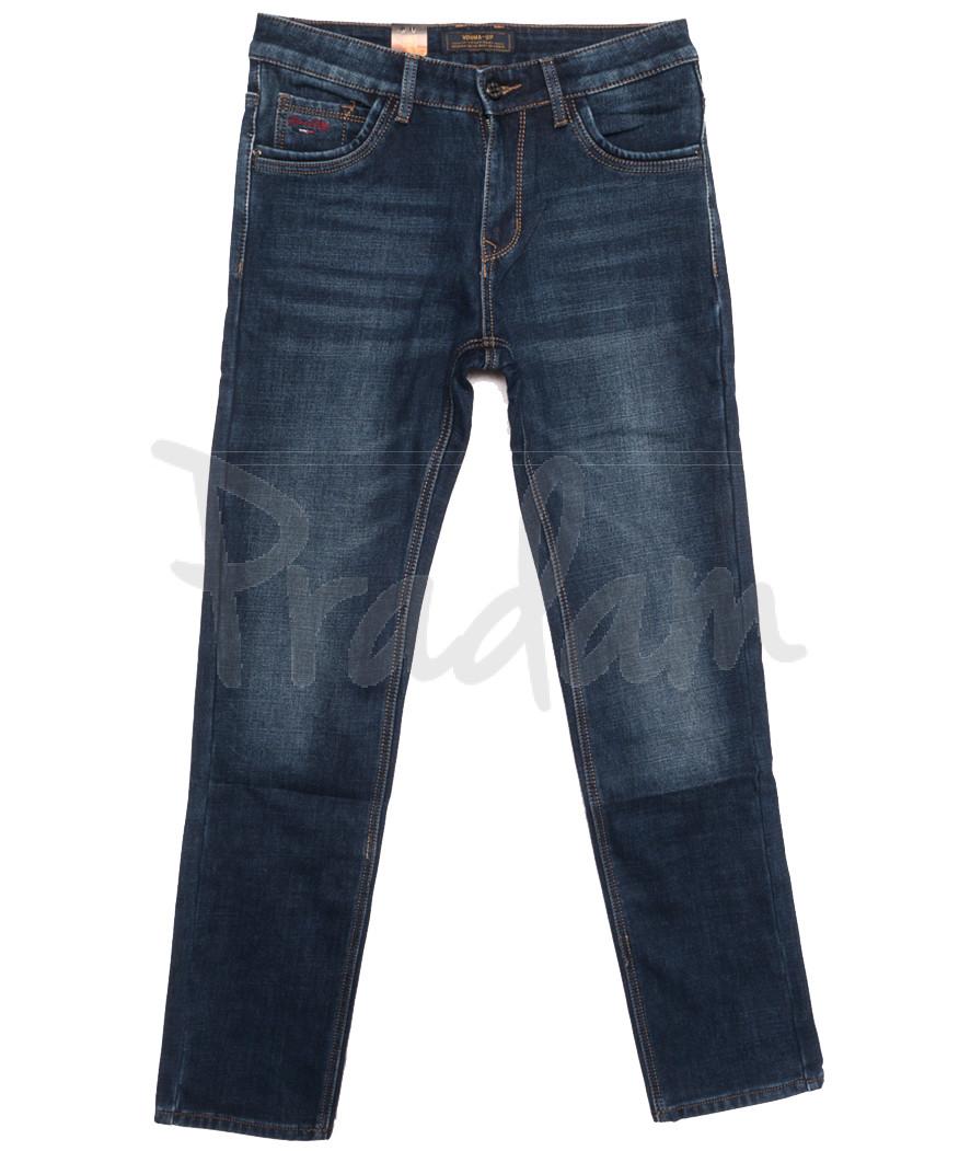 18249 Vouma up джинсы мужские на байке синие зимние стрейчевые (29-38, 8 ед.)