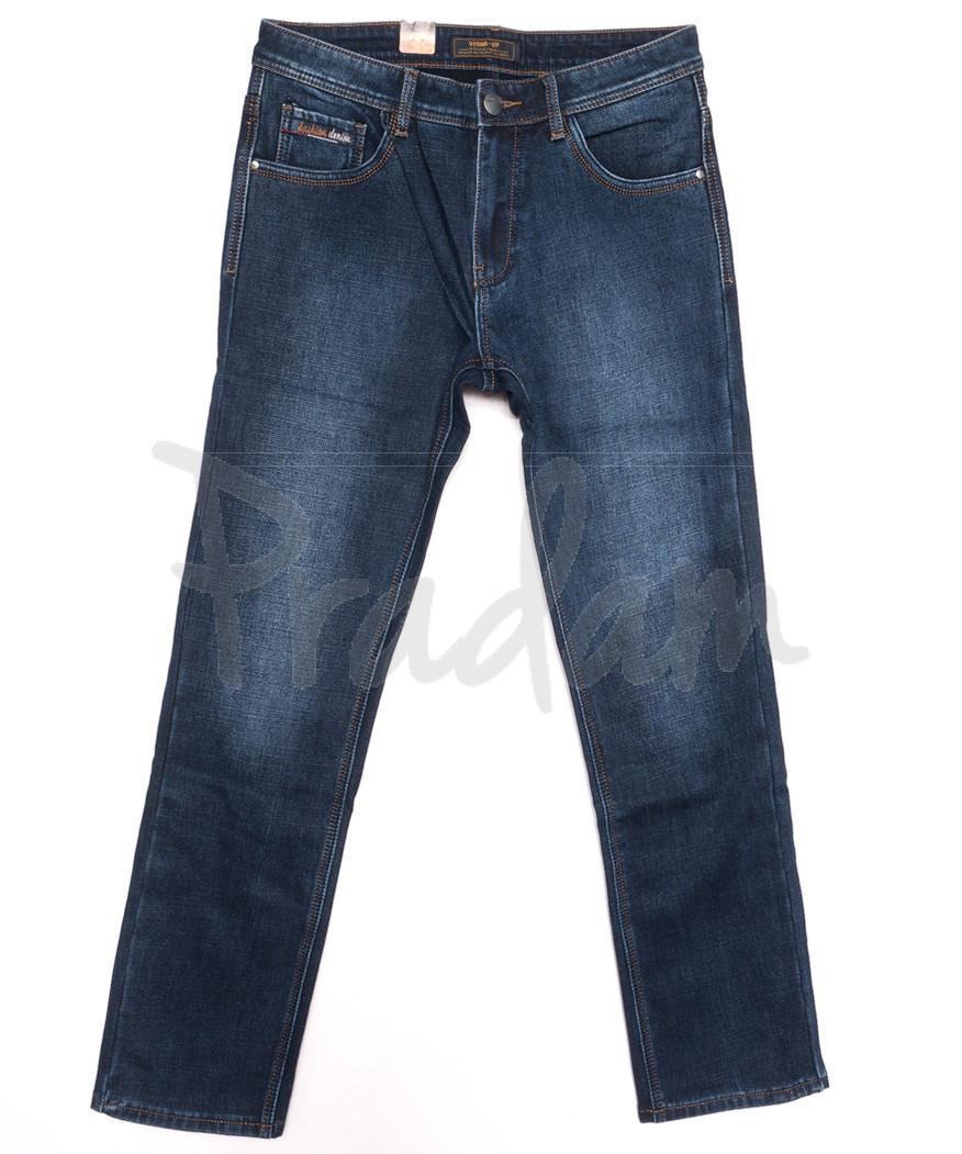 18242 Vouma up джинсы мужские полубатальные на байке синие зимние стрейчевые (32-38, 8 ед.)