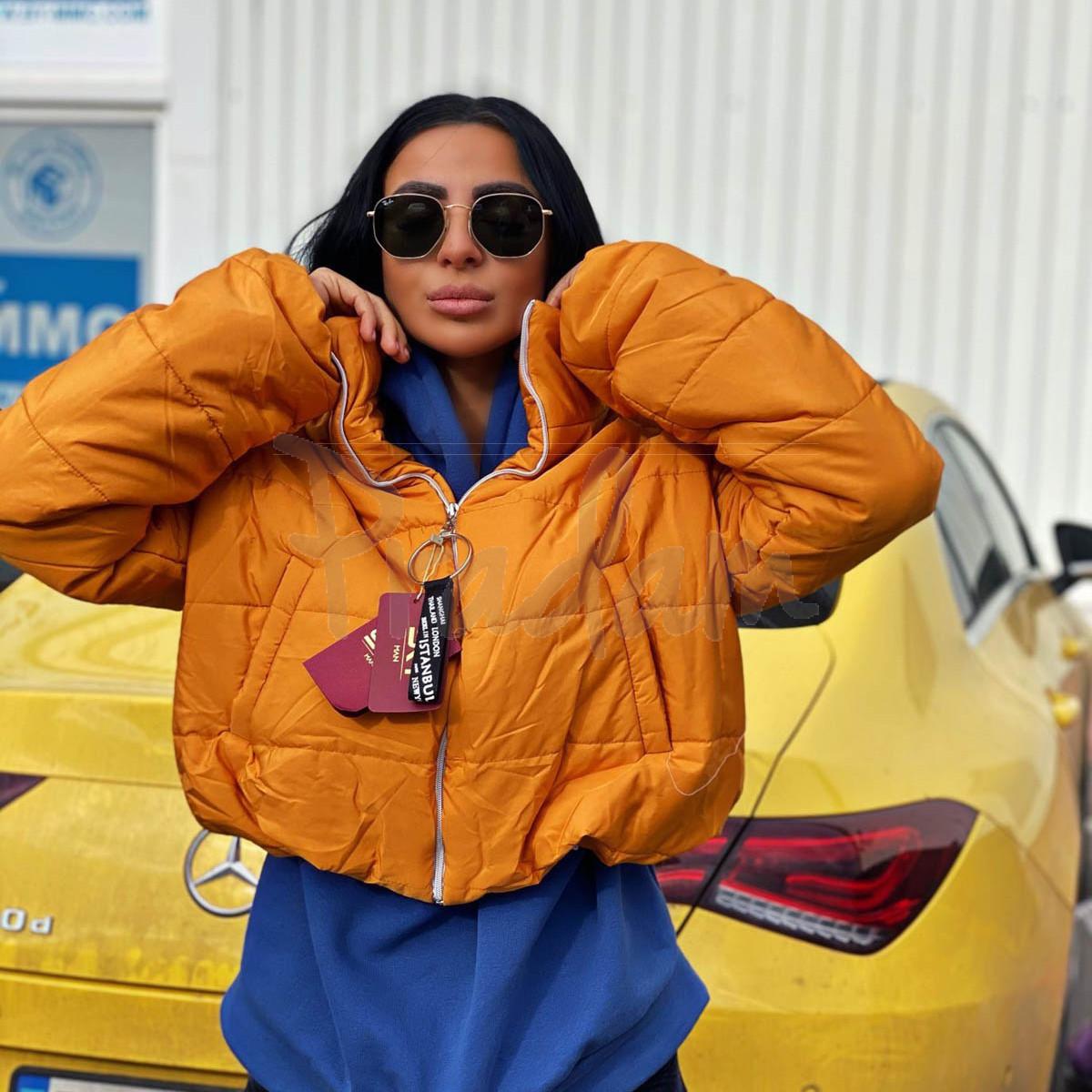 81288-7 горчица SRT куртка женская на синтепоне (4 ед. размеры:S.M.L.XL)