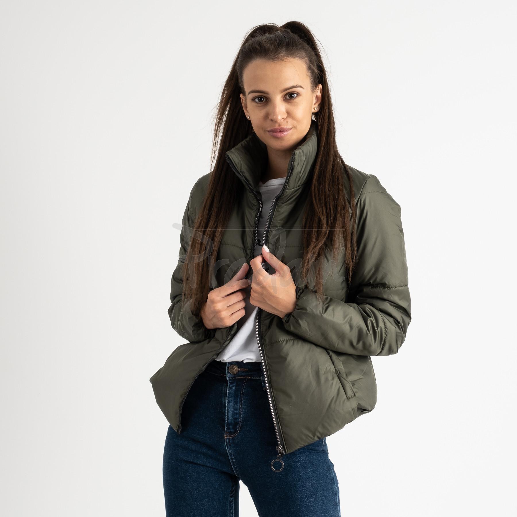 0410-4 хаки куртка женская на синтепоне ( 3 ед. размеры : 42.44.46)