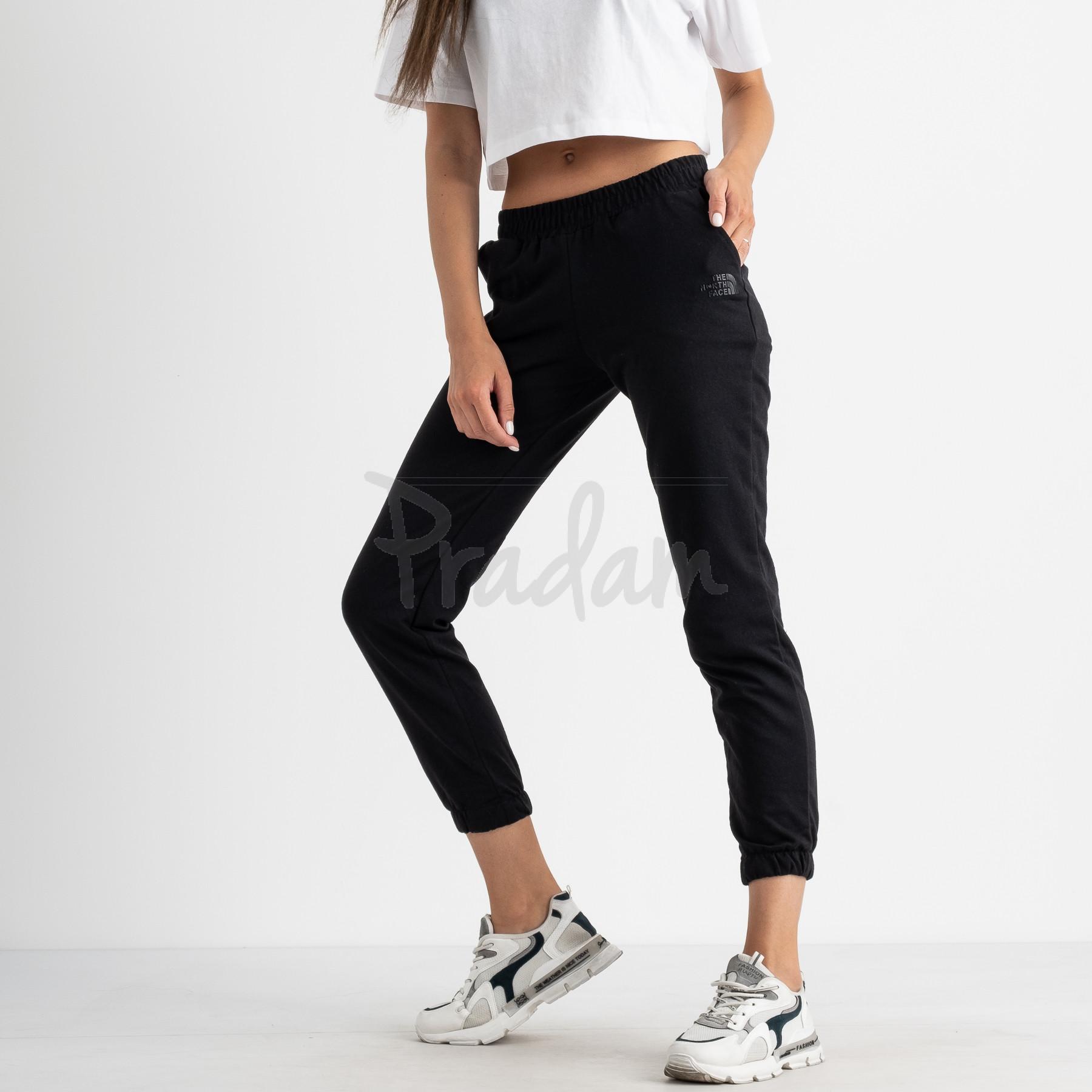 2527 черные спортивные штаны из двунитки (4 ед. размеры: 42.44.46.48)