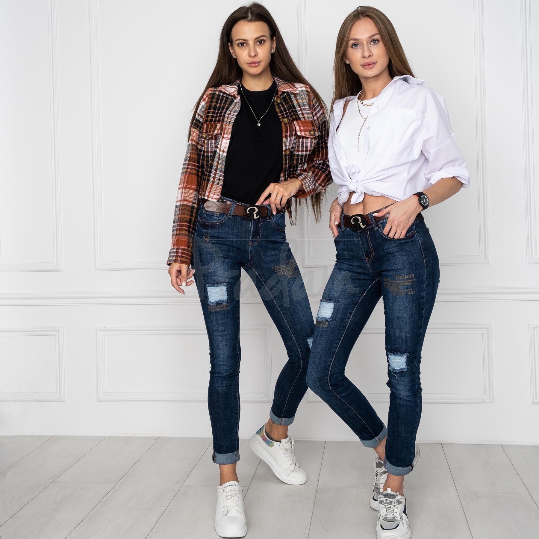 5006 OK&OK джинсы женские синие стрейчевые (6 ед. размеры: 25.26.27.28.29.30)