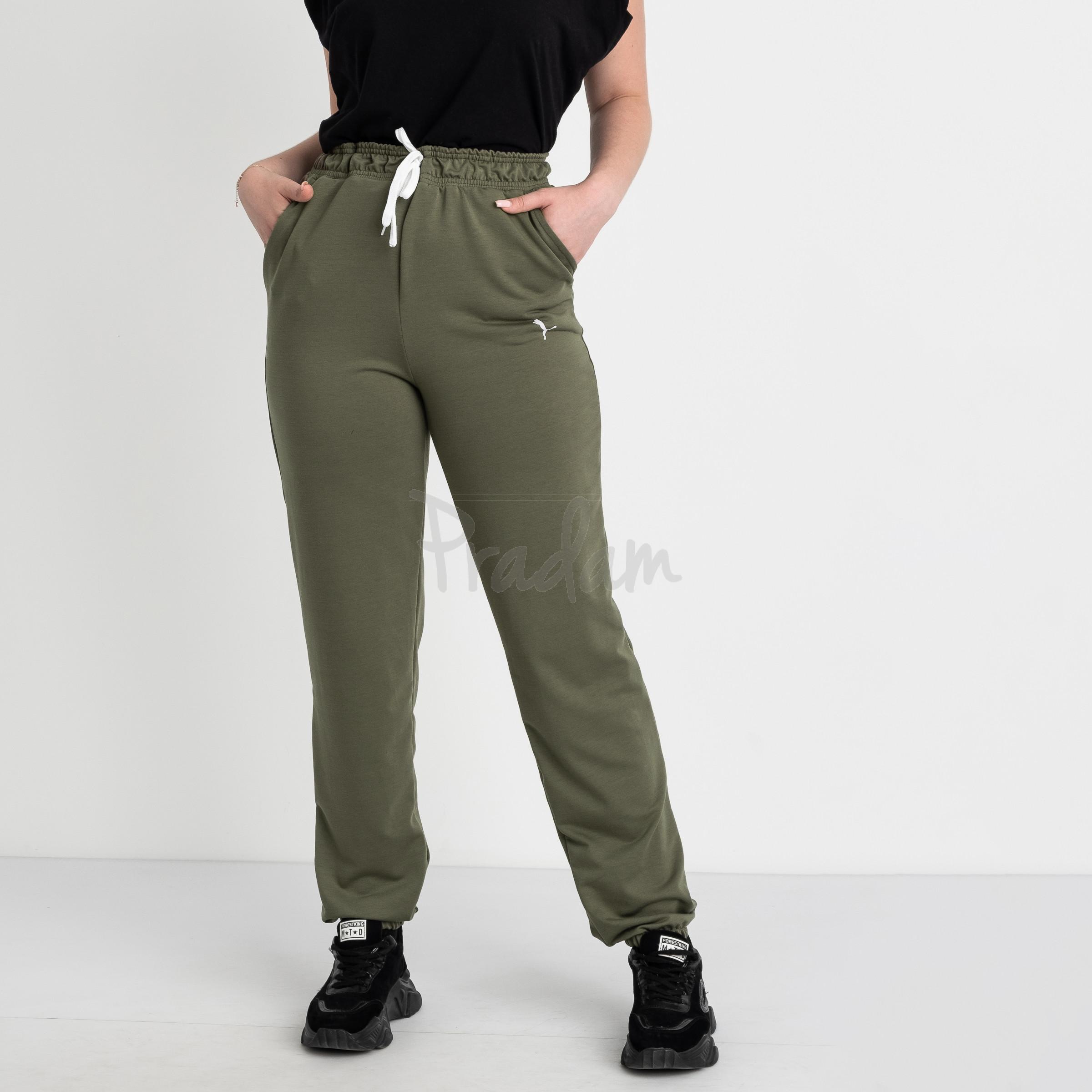 14870-10 Mishely хаки брюки женские спортивные батальные стрейчевые (4 ед. размеры: 50.52.54.56)