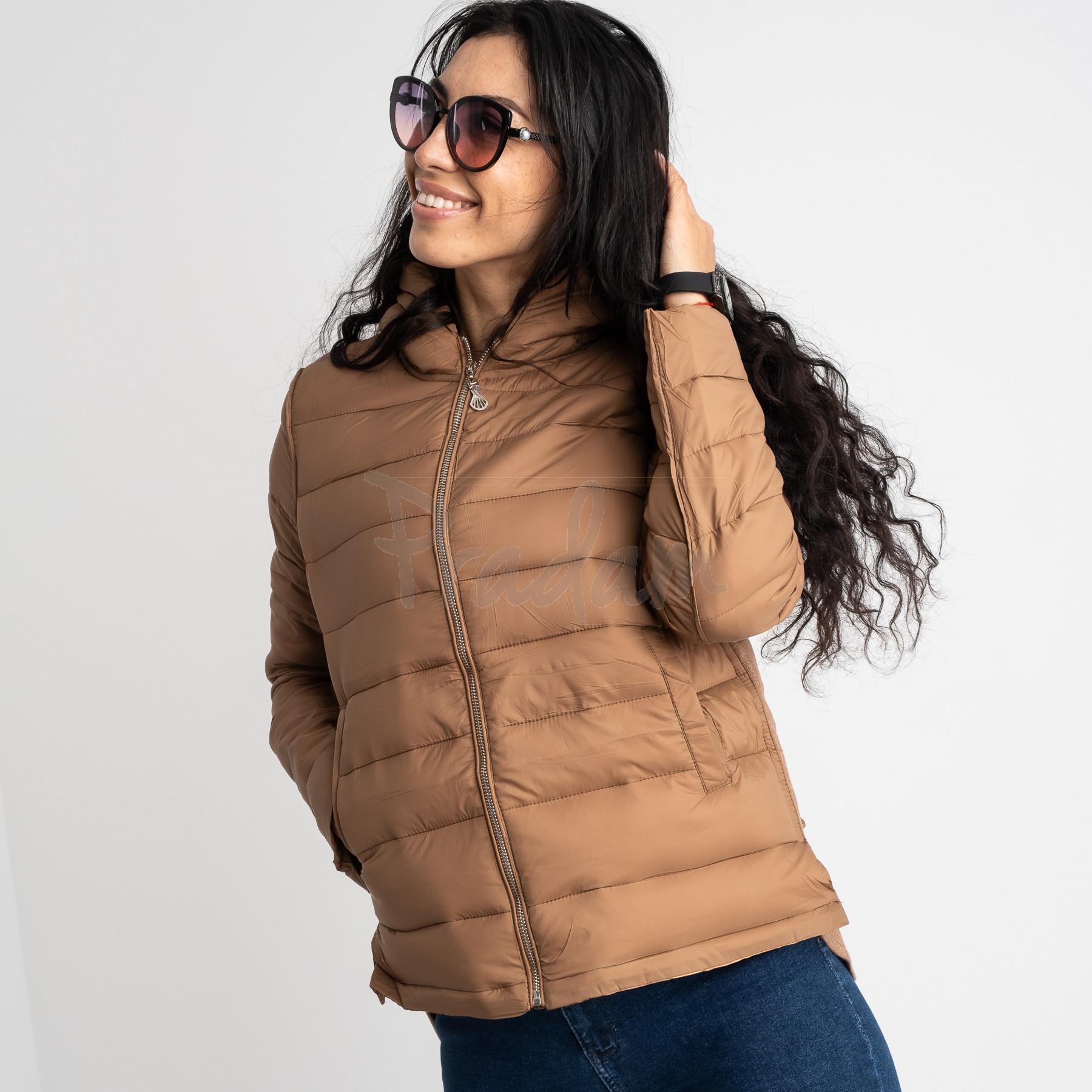 7021-3 куртка женская коричневая на синтепоне (5 ед. размеры: L-3XL)