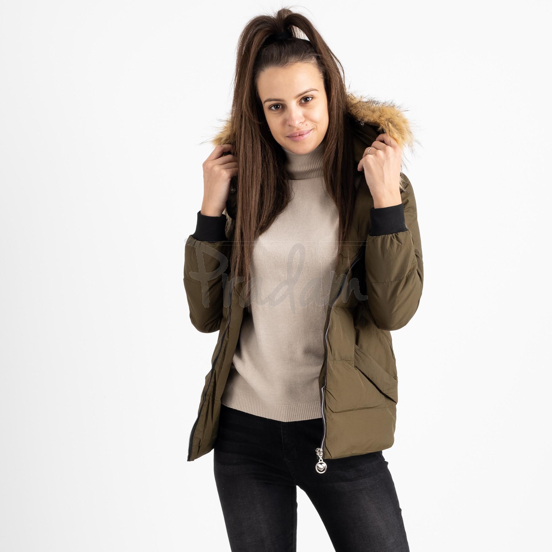 6937-4 куртка хаки женская на синтепоне (6 ед. размеры: M.L.2XL/2.3XL.4XL)