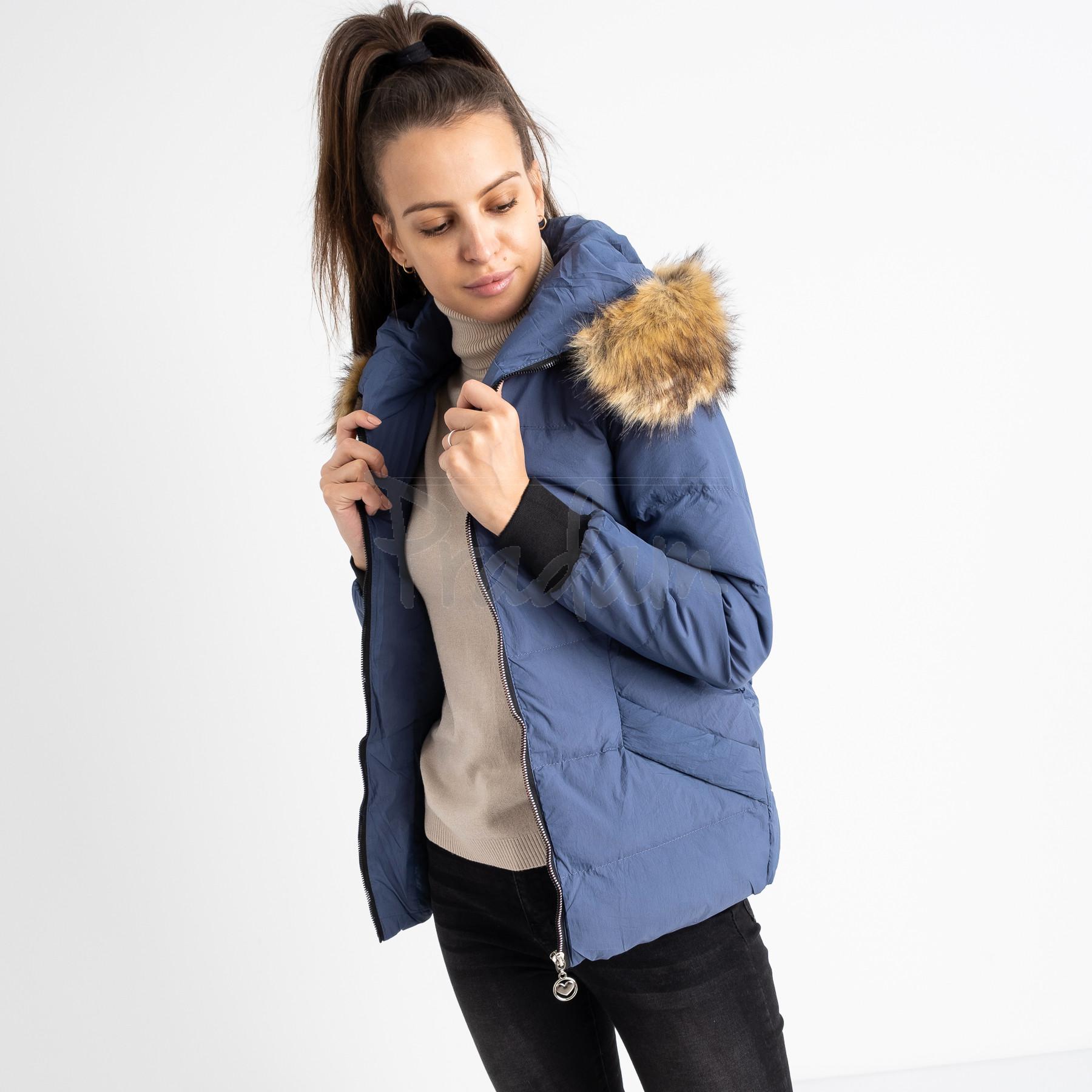 6937-2 куртка голубая женская на синтепоне (6 ед. размеры: M.L.2XL/2.3XL.4XL)