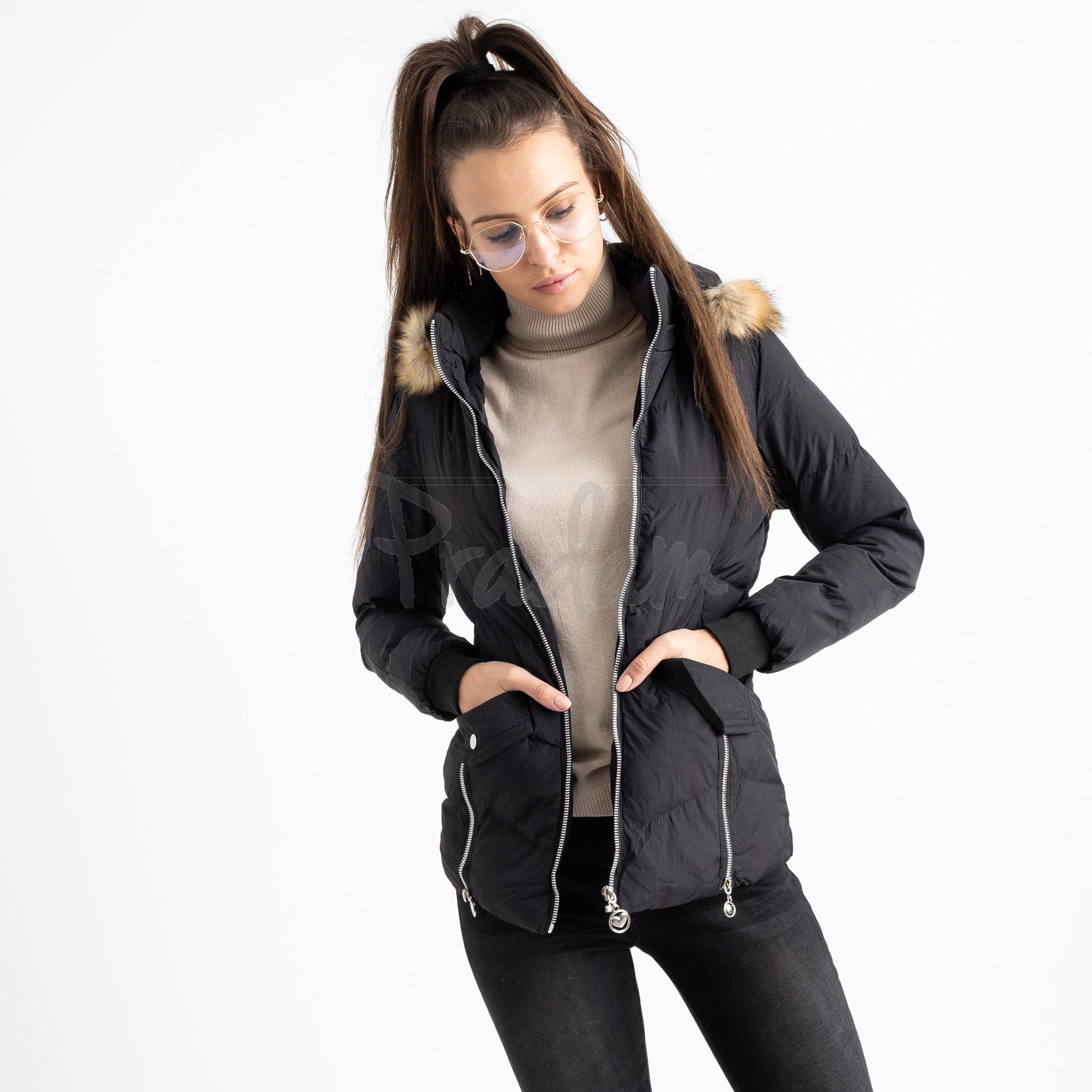6936-1 куртка черная женская на синтепоне (6 ед. размеры: M.L.2XL/2.3XL.4XL)