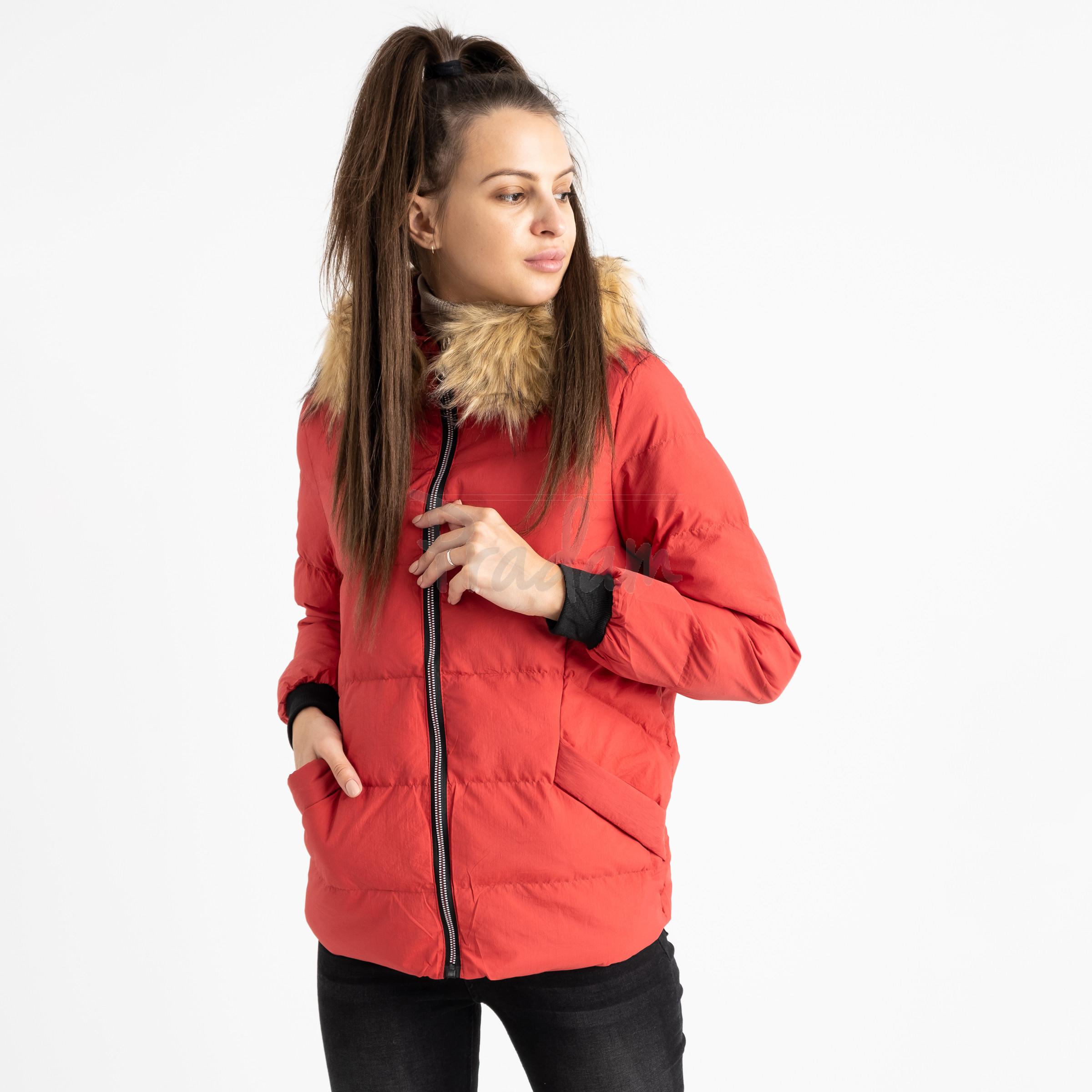 6937-3 куртка красная женская на синтепоне (6 ед. размеры: M.L.2XL/2.3XL.4XL)