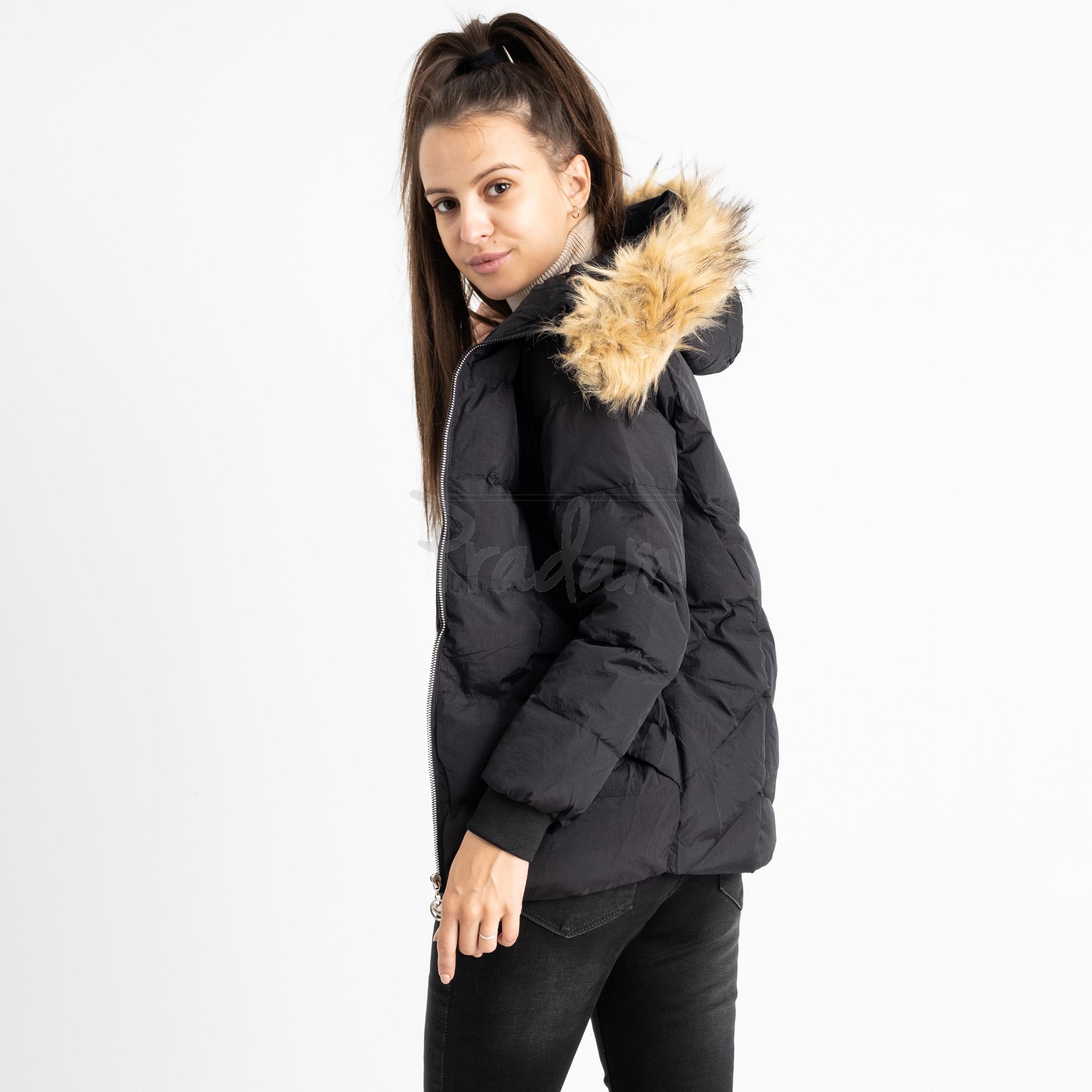6937-1 куртка черная женская на синтепоне (6 ед. размеры: M.L.2XL/2.3XL.4XL)