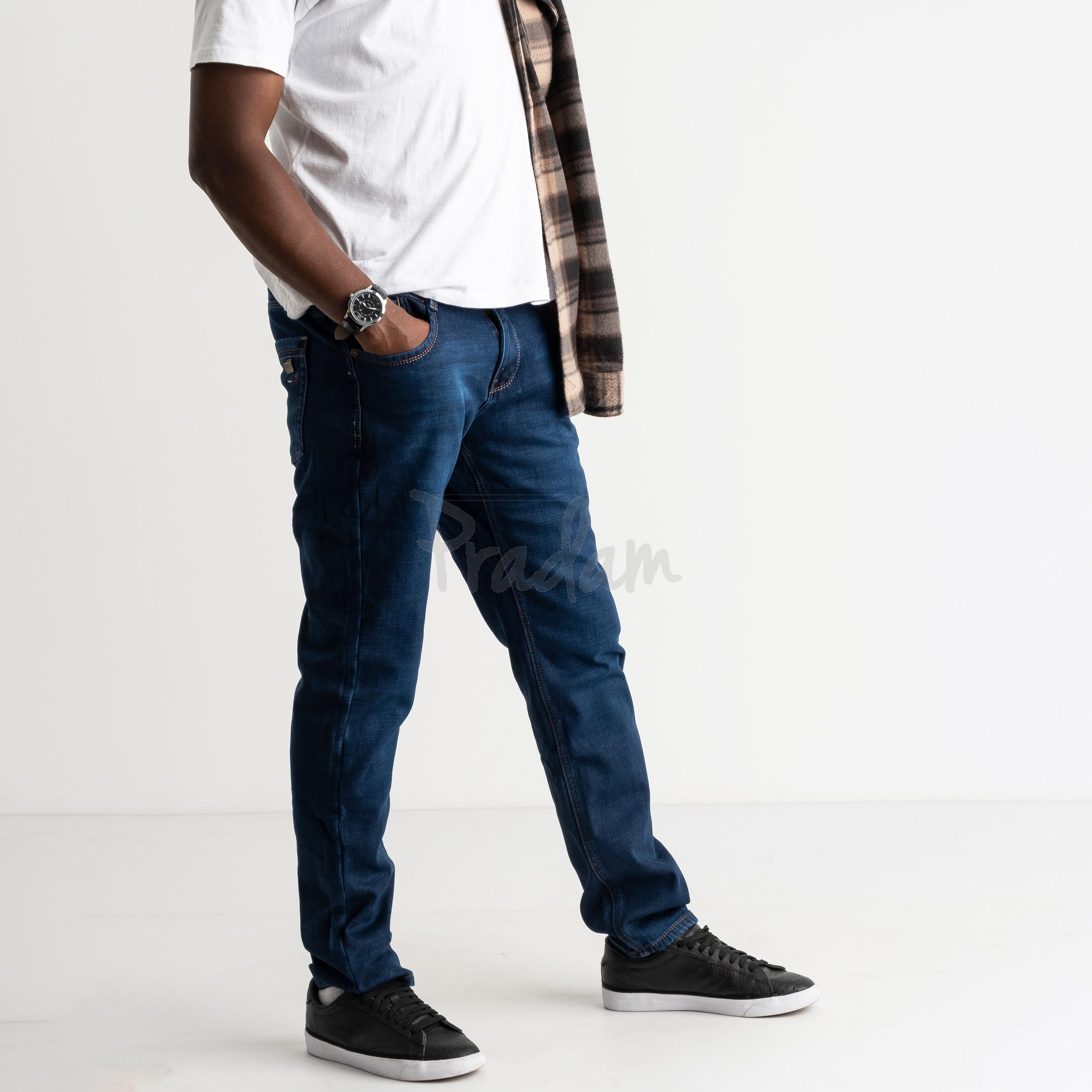 2131 Dsouaviet синие джинсы мужские стрейчевые на флисе (8 ед.размеры: 29.30.31.32.33.34.36.38)