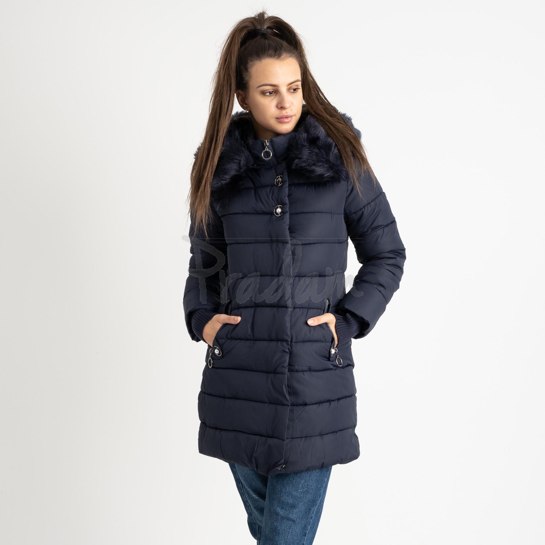 1089-1 синяя куртка женская на синтепоне (4 ед. размеры: M.L.XL.XXL)