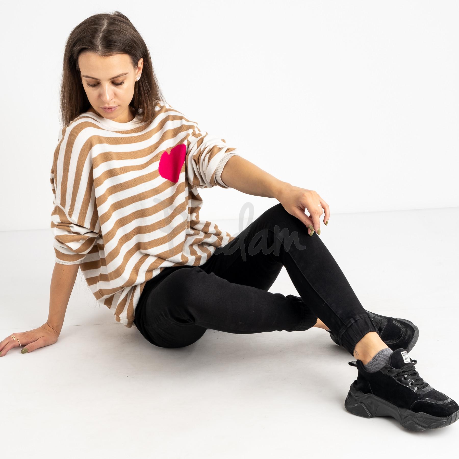 6040 New Jeans джогеры на флисе черные стрейчевые (6 ед.размеры: 25.26.27.28.29.30)