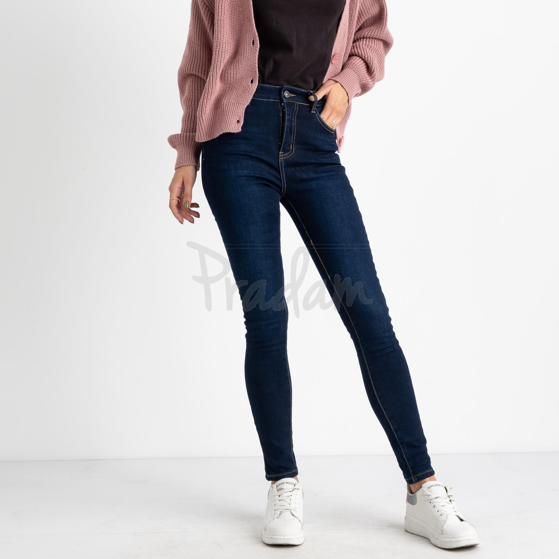 6044 New Jeans американка синяя стрейчевая на байке (6 ед.размеры: 25.26.27.28.29.30)