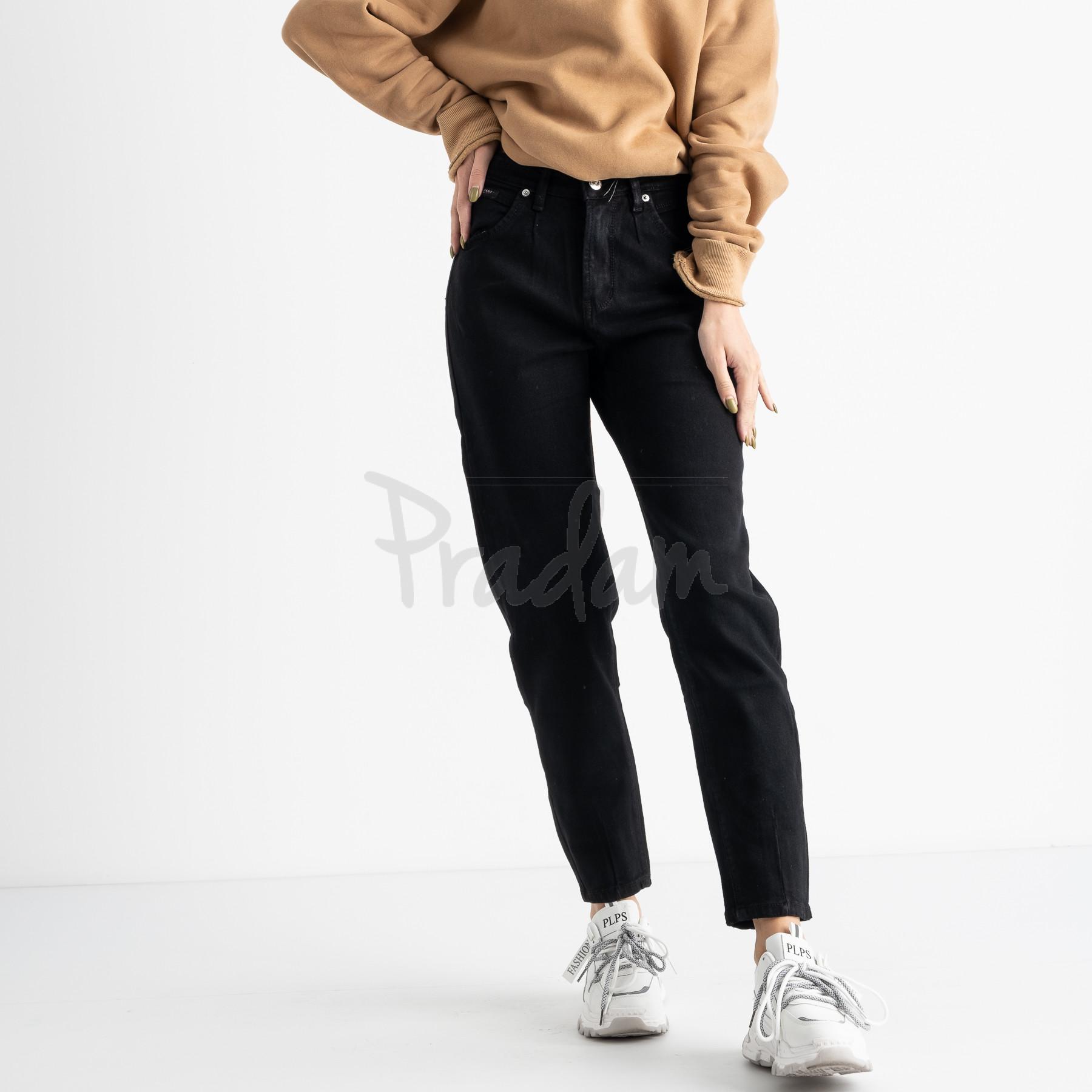 0944-5 Relucky джинсы-слоучи на байке черные стрейчевые (6 ед. размеры: 25.26.27.28.29.30)