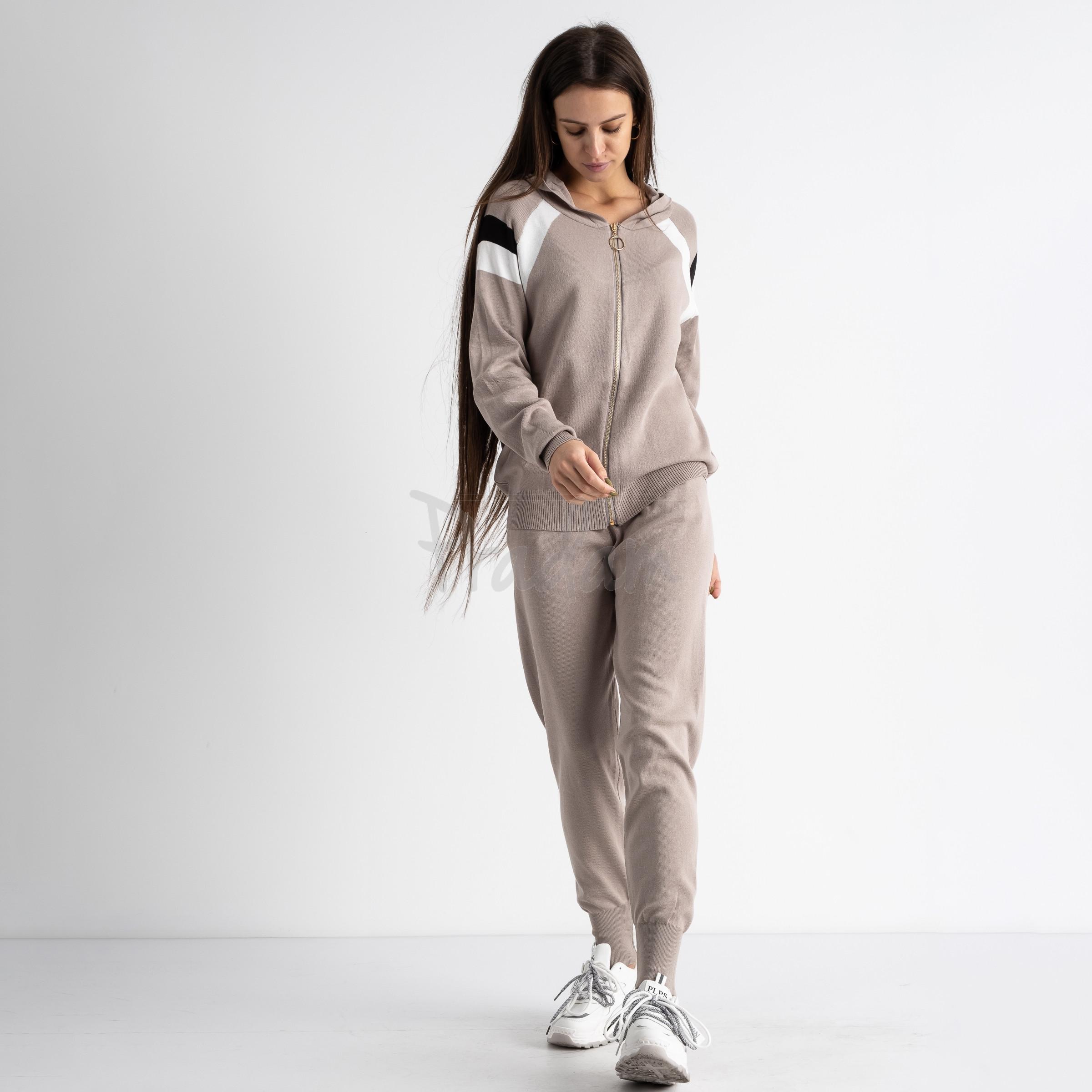 1602-4 M.K.Store бежевый спортивный костюм женский (3 ед.размеры: универсал 44-48)