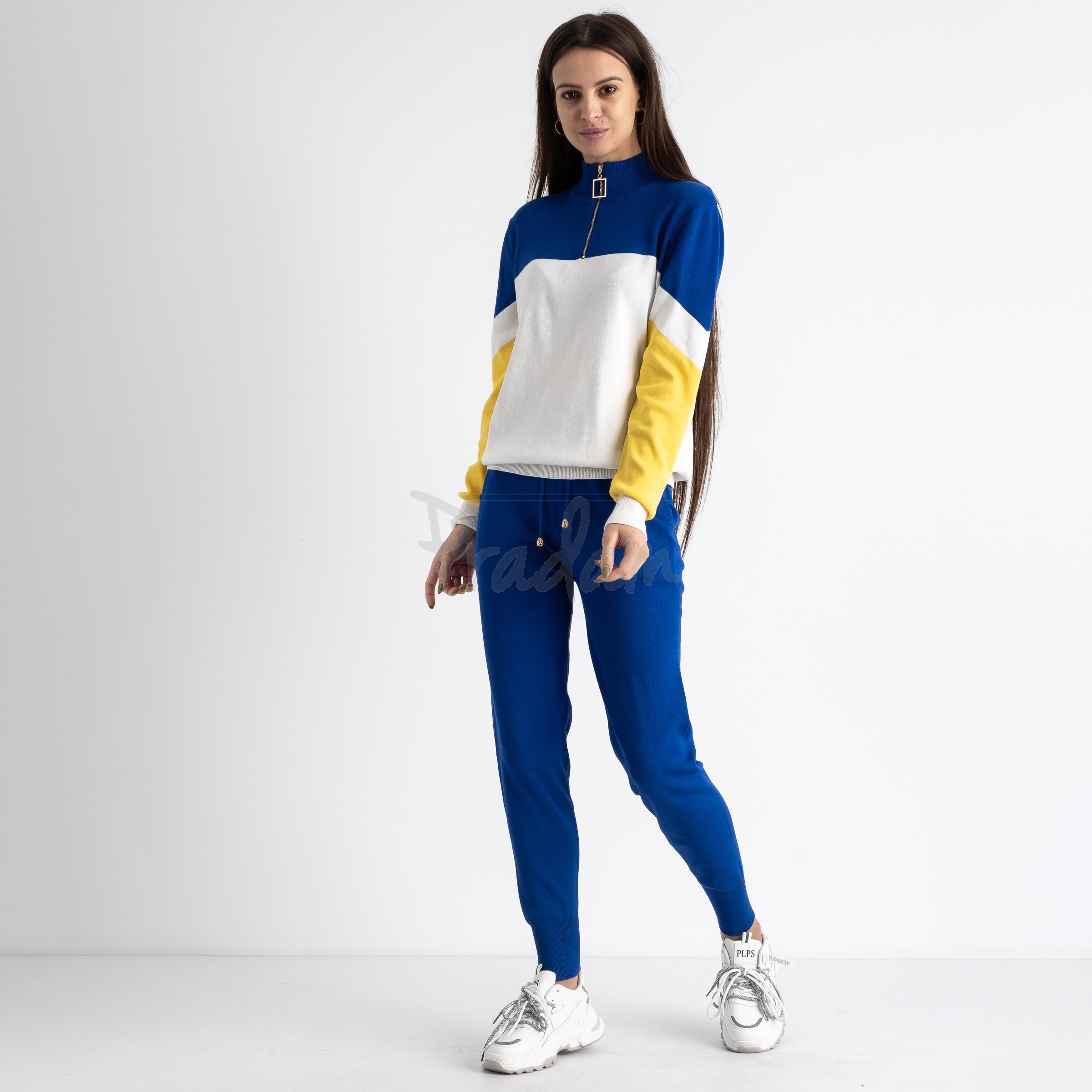 2105-3 M.K.Store синий спортивный костюм женский (3 ед.размеры: универсал 44-48)
