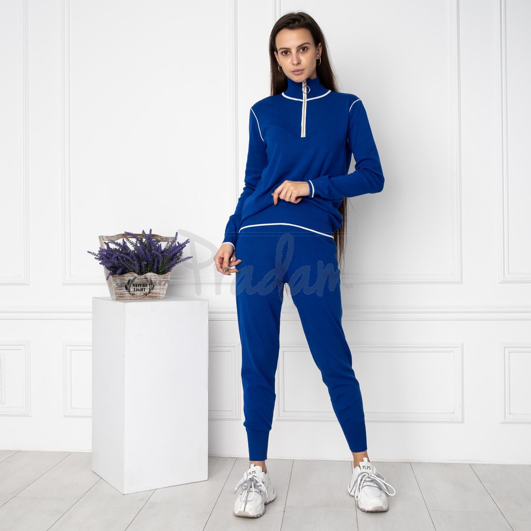 1610-2 M.K.Store синий спортивный костюм женский (3 ед.размеры: универсал 44-48)