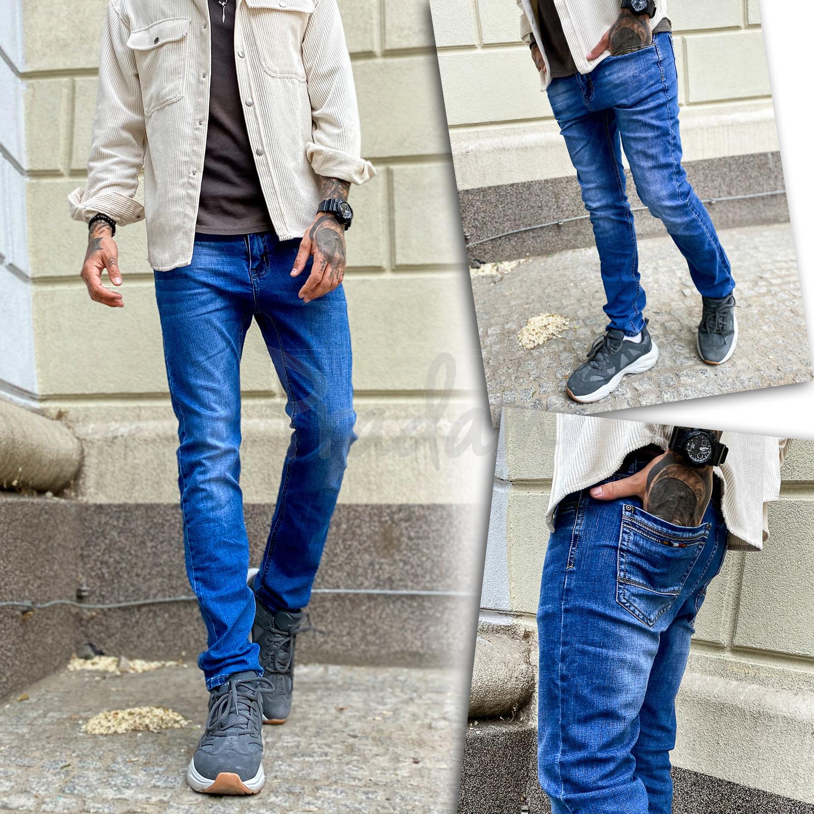 19108 Metod&Ren джинсы мужские молодежные синие весенние стрейчевые (28-36, 8 ед.)