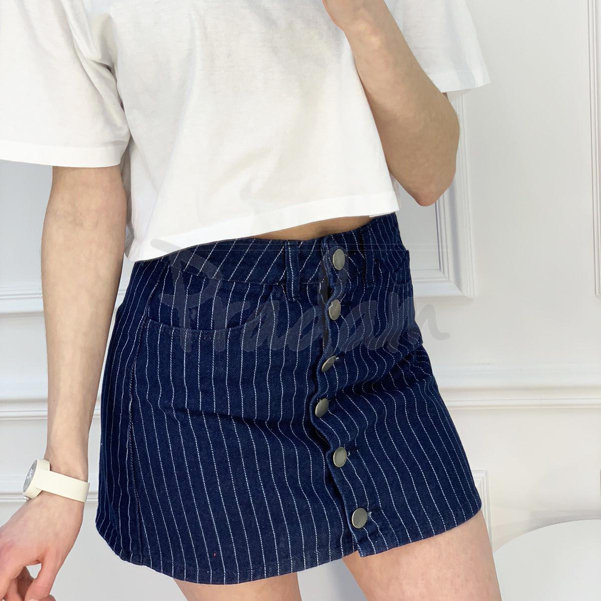 0200-6 Defile юбка на пуговицах синяя котоновая (6 ед. размеры: 34.36.36.38.38.40)