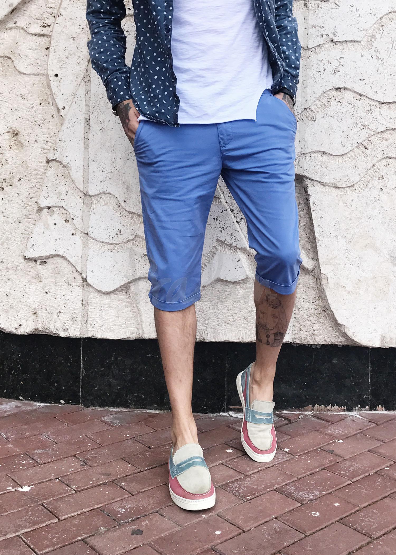 1301 D Superlapp шорты мужские голубые стрейчевые (29,33, 2 ед.)