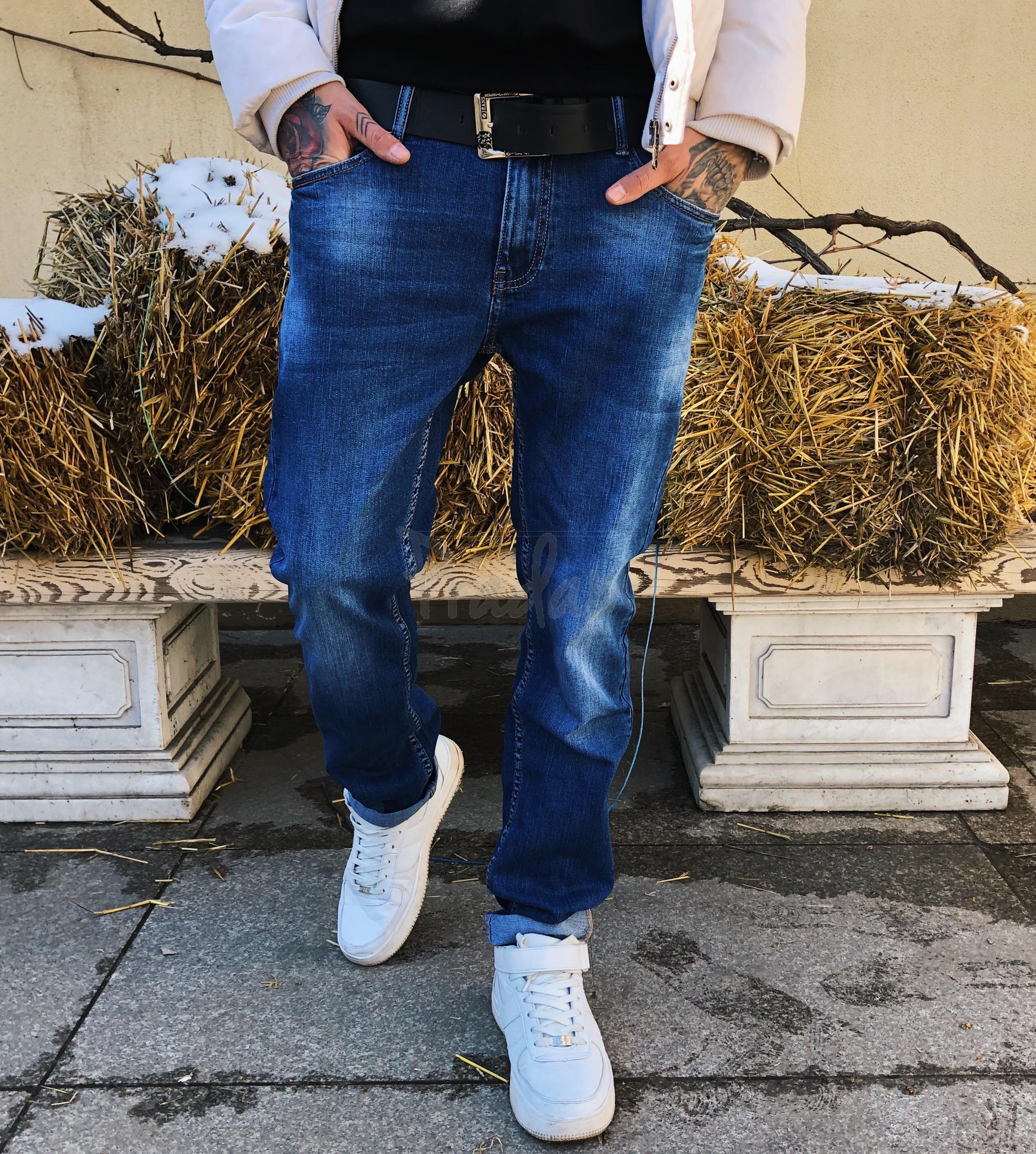 8044 Resalsa джинсы мужские с теркой весенние стрейчевые (30-2,31-2,36, 5 ед.)