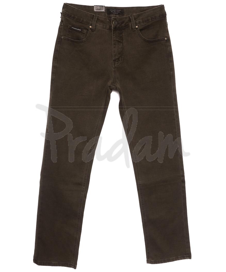 9479 God Baron джинсы мужские полубатальные хаки осенние стрейчевые (32-42, 8 ед.)