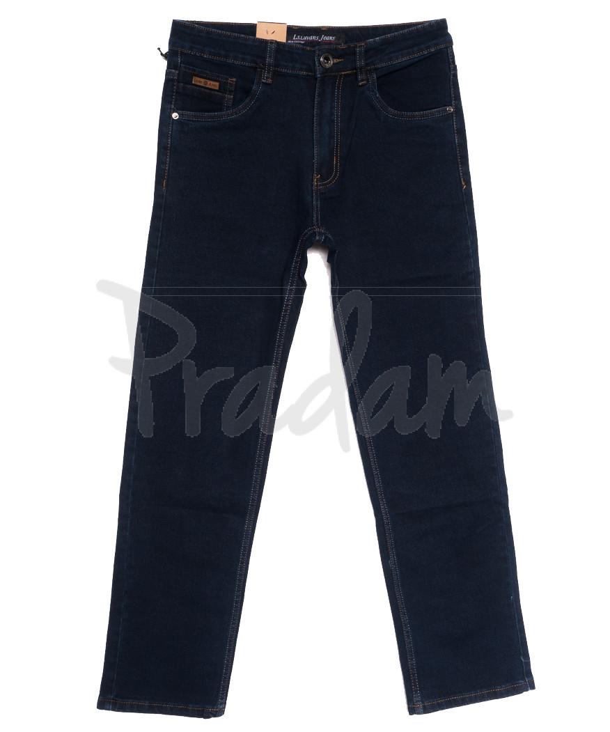 1044 D LS джинсы мужские полубатальные темно-синие осенние стрейчевые (32-42, 8 ед.)