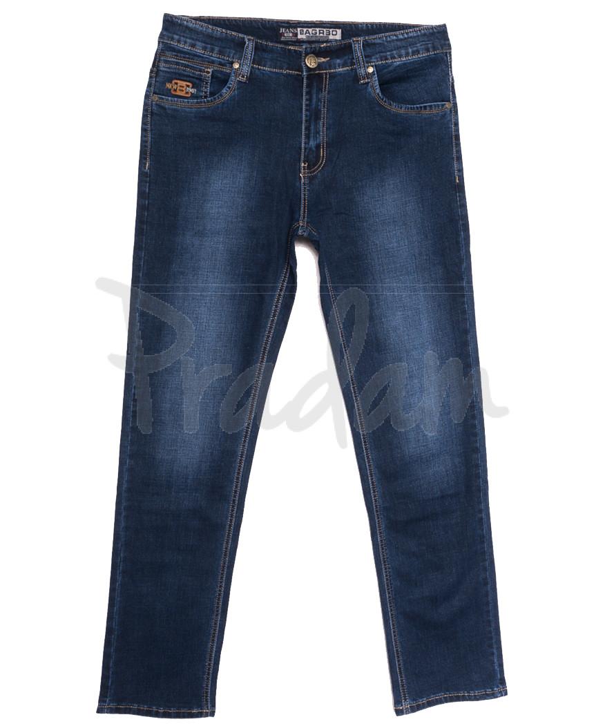 1612 Bagrbo джинсы мужские полубатальные синие осенние стрейчевые (31-36, 8 ед.)