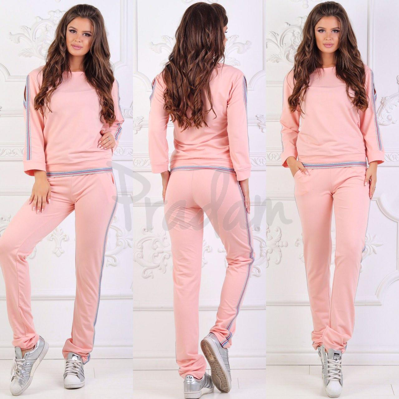 0022-2 розовый женский спортивный костюм (48,48, 2 ед.)