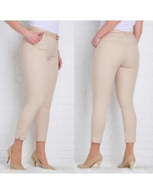 9781-P (GS9781P) Moon girl брюки женские батальные 7/8 бежевые весенние стрейчевые (29-36, 12 ед.)
