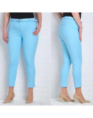 9785-I (GS9785I) Moon girl брюки женские батальные 7/8 голубые весенние стрейчевые (30-38, 6/12 ед.)