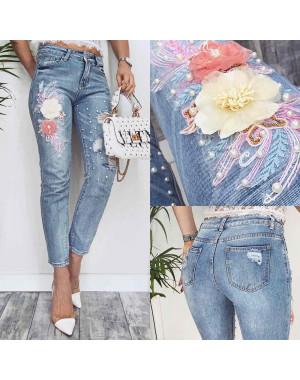 3627 New jeans мом стильный синий весенний коттоновый (25-30, 6 ед.)