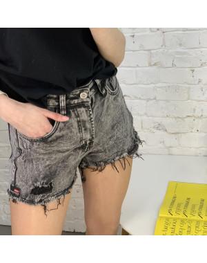 0055-9 A Relucky шорты серые женские стрейчевые (6 ед. размеры: 25.26.27.28.29.30)