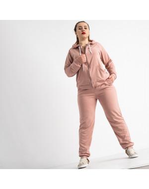 15111-4 Mishely пудра женский спортивный костюм батальный из двунитки (4 ед. размеры: 50.52.54.56)
