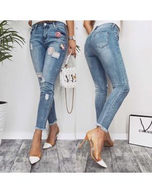 3626 New jeans мом синий весенний коттоновый (25-30, 6 ед.)
