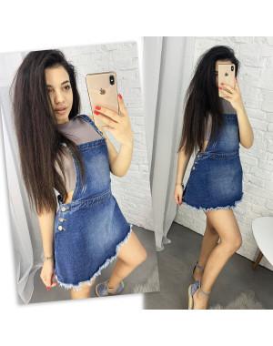0212-1 Dsqvaiet сарафан женский джинсовый котоновый (6 ед. размеры: 25.26.27.28.29.30)