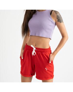 1422-13 Mishely шорты женские красные из двунитки (4 ед. размеры: S.M.L.XL)