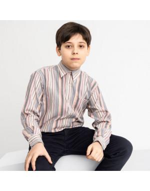 1904 Boston Public серая рубашка в полоску на мальчика 7-15 лет (5 ед. размеры: 30/31.32/33.33/34.34/35.35/36)