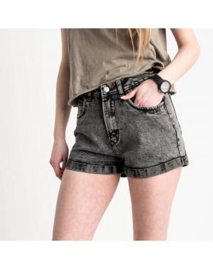 0051-9 A Relucky шорты серые женские стрейчевые (6 ед. размеры: 25.26.27.28.29.30)