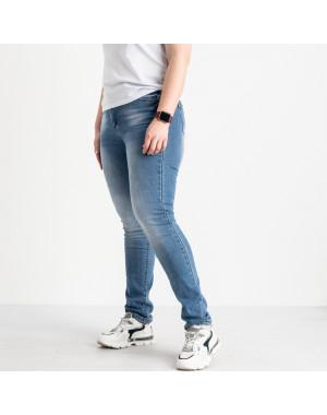 1256 Lady N джинсы батальные женские голубые стрейчевые (6 ед. размеры: 31.32.33.34.36.38)