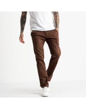 5768 LS брюки мужские темно-коричневые стрейчевые (7 ед. размеры: 28.29.30.31.32.33.34)