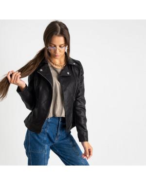 2018 куртка-косуха черная женская из кожзама (5 ед. размеры: S.M.L.XL.XXL)