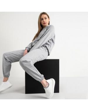15222-2 серый женский спортивный костюм из двунитки (4 ед. размеры: S.M.L.XL)