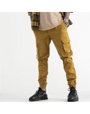 8956-14 песочные брюки карго мужские стрейчевые (4 ед. размеры: 30.32.33.36)