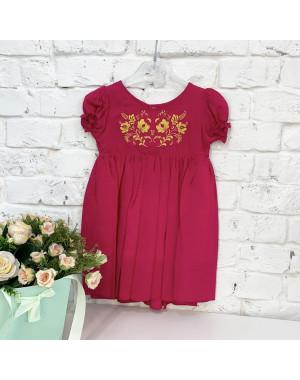 0264-3 платье малиновое на девочку 1-3 года (3 ед. размеры : 80.92.104)