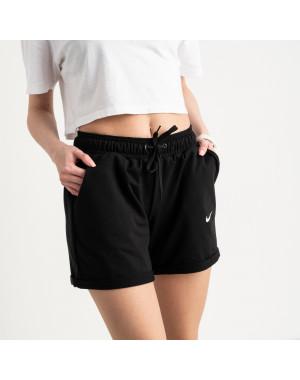 1422-5 Mishely шорты женские черные из двунитки (4 ед. размеры: S.M.L.XL)