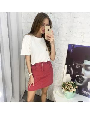 3418 юбка джинсовая красная котоновая (6 ед. размеры: XS.S/2.M/2.L)