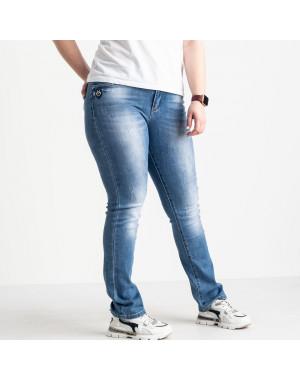 1255 Lady N джинсы батальные женские голубые стрейчевые (6 ед. размеры: 31.32.33.34.36.38)