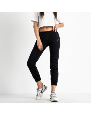 2525 черные спортивные штаны из двунитки (4 ед. размеры: 42.44.46.48)