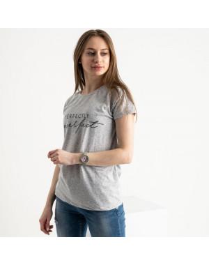 2581-5 серая футболка женская с принтом (3 ед. размеры: S.M.L)